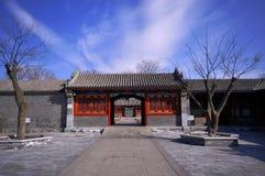 Deur in het paleis van de Gong van de Prins stock afbeeldingen