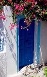 Deur in Santorini Stock Afbeeldingen
