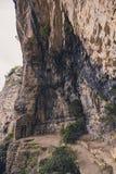 Deur van het klooster van Paraskevi in Griekenland stock afbeelding