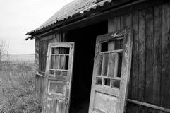 Deur van het oude huis Stock Foto