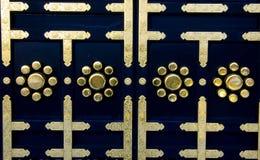 Deur van Japanse tempel Stock Foto's