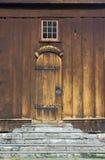 Deur van middeleeuwse kerk Royalty-vrije Stock Foto