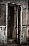 Deur van oude house.photos in de stijl van verschrikking. Stock Fotografie