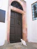 Deur van traditioneel Grieks huis Royalty-vrije Stock Foto's