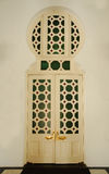 Deur van Ubudiah-Moskee in Kuala Kangsar, Perak, Maleisië Royalty-vrije Stock Fotografie