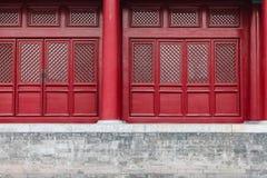 Deurdetails van Keizerpaleis in Peking Stock Afbeeldingen
