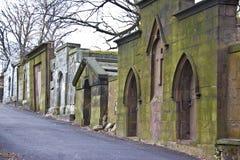 Deuren aan de crypten op begraafplaats Royalty-vrije Stock Afbeeldingen