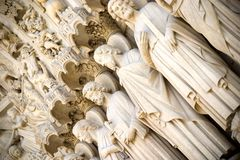 Deuren aan de Kathedraal van Notre Dame Royalty-vrije Stock Afbeelding