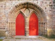 Deuren bij de kathedraalkerk van St Machar, Aberdeen, Schotland Royalty-vrije Stock Foto