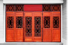Deuren Chinese stijl Stock Foto's