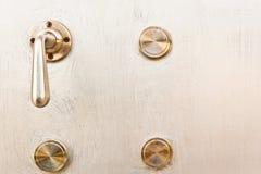 Deuren en deurknop Royalty-vrije Stock Foto
