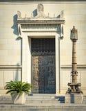 Deuren en ingangen toneel, unieke, oude, versierde architectuur Royalty-vrije Stock Foto