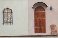 Deuren en venstersschrijver uit de klassieke oudheid Royalty-vrije Stock Foto's
