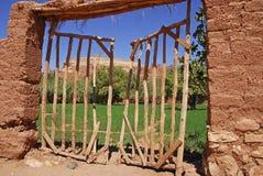 Deuren in kasbah. Royalty-vrije Stock Foto's
