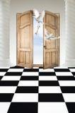 Deuren in paradijs Royalty-vrije Stock Foto's