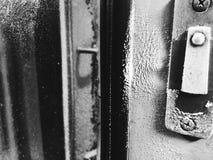 Deuren tussen de auto's van de trein royalty-vrije stock afbeelding