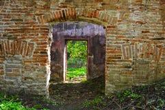 Deuren van een oud gebouw Stock Afbeelding