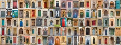100 deuren van Europa Royalty-vrije Stock Fotografie