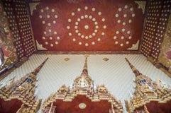 Deuren van kerk in tempel, Thailand Royalty-vrije Stock Foto's