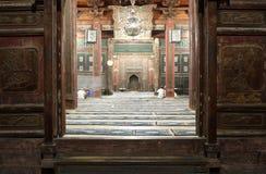 Deuren van oude moskee in Xian Stock Foto