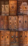 Deuren van Siena Royalty-vrije Stock Afbeeldingen