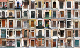 Deuren - Venetië, Italië Royalty-vrije Stock Foto's