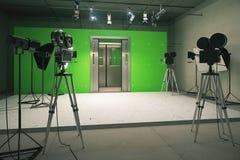 Deurendecoratie voor filmfilm met uitstekende camera's royalty-vrije stock afbeelding