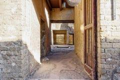 Deuropening aan roman villa in Pompei Stock Fotografie
