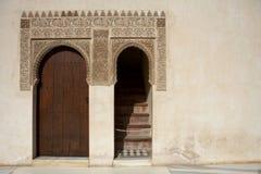 Deuropening en Islamitisch detail Stock Foto's