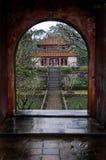 Deuropening en Tempel, Vietnam royalty-vrije stock afbeeldingen