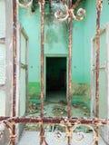 Deuropening van oud huis in Mexico Royalty-vrije Stock Foto