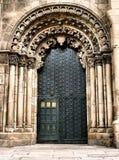 Deuropening van Ourense kathedraal Stock Foto