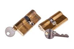 Deursloten en sleutels Stock Foto's
