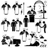 Deus Angel Heaven Paradise Clipart ilustração do vetor