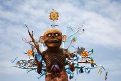 Deus asteca Mictlantecuhtli imagens de stock