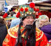 Deus chinês da fortuna Fotografia de Stock Royalty Free