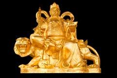 Deus chinês dourado do dinheiro da prosperidade foto de stock royalty free