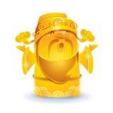 Deus chinês da riqueza - dourada Fotografia de Stock Royalty Free