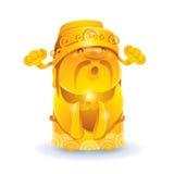 Deus chinês da riqueza - dourada Imagens de Stock Royalty Free