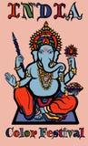Deus colorido do elefante - ganesha ilustração royalty free
