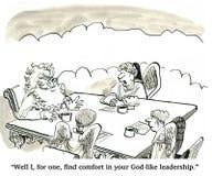 Deus-como a liderança ilustração royalty free