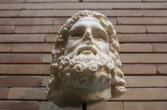 Deus de descrição principal de Serapis da estátua fotografia de stock royalty free