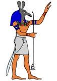 Deus de Egipto antigo - Seth ilustração royalty free