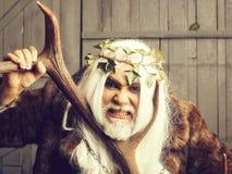 Deus de Zeus com chifres fotos de stock