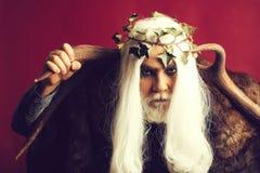 Deus de Zeus com chifres fotos de stock royalty free
