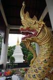 Deus do budismo do templo de Tailândia da Buda de Wat Chedi Luang Chiang Mai imagens de stock