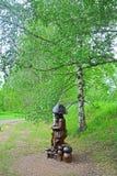 Deus do cogumelo no jardim de Dendrology na cidade de Pereslavl-Zalessky Imagens de Stock