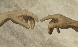 Deus do homem das mãos Imagens de Stock Royalty Free