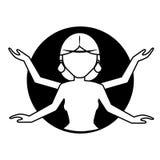 Deus do indiano de Shiva ilustração royalty free