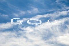 Deus escrito no céu Imagens de Stock